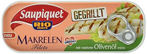 Saupiquet Makrelen- Filets mit nativem Ol, 14er Pack (14 x 120 g)