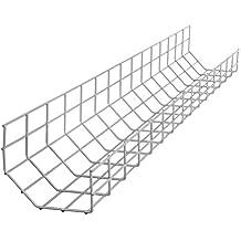 R-Go Tools Steel Basic - Cable (plateado, Bandeja portacables recta, Acero