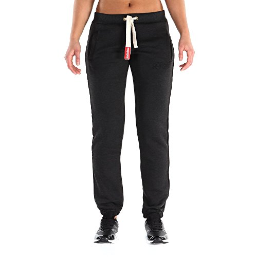 SMILODOX Jogginghose Damen | Trainingshose für Sport Fitness Gym Training & Freizeit | Sporthose - Jogger Pants - Sweatpants Hosen - Freizeithose Lang Anthrazit