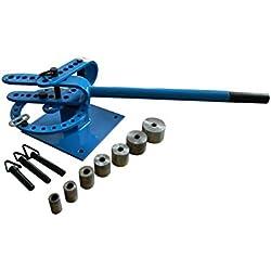 CINTREUSE PLIEUSE - presse à cintrer manuelle fer plat et rond avec 7 adaptateurs (#TM/14402006B)
