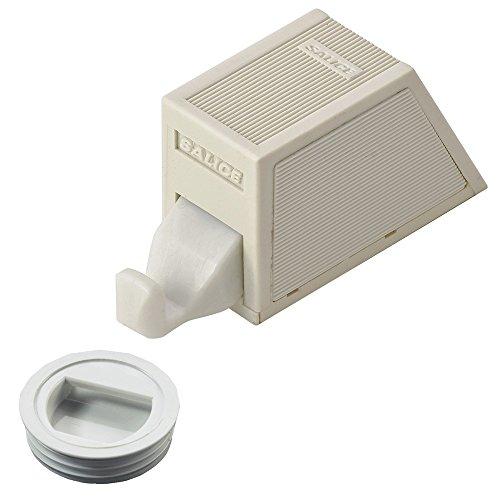 Pestillo Muebles Impresión–Duo Matic Push | para empotrar para tornillos | plástico gris | Muebles herrajes de gedotec®