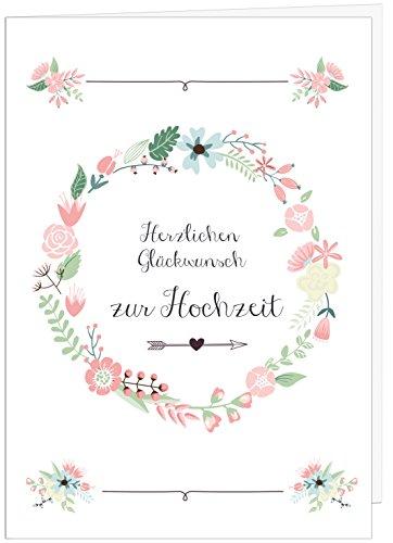 """Hochzeitskarte Glückwunsch A4 // Hochzeitskarte groß """"Sanfte Farben"""" // große Hochzeitskarte edel // Hochzeitsdeko // von Sophies Kartenwelt"""