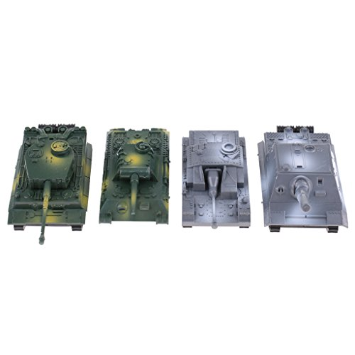 Sharplace 4Pcs 1:72 Panzer Armee Modell Spielzeug Soldat Push Back Auto Spielzeug Geschenk für Kinder (Armee Spielzeug-panzer)