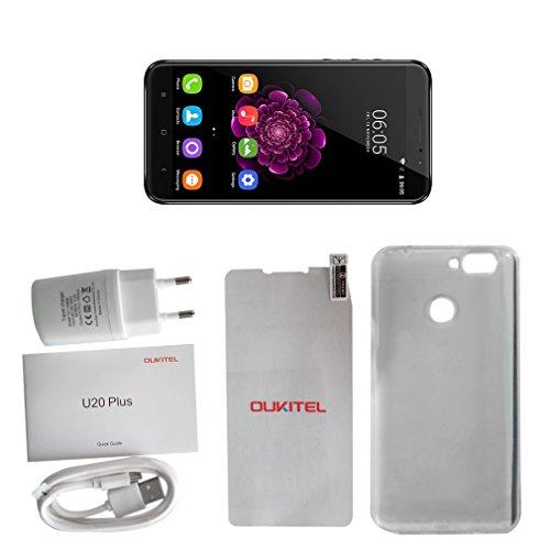 OUKITEL U20 Plus 4G tel  fono inteligente  5 5 pulgadas 1080P pantalla desbloqueado Android tel  fono m  vil  MT6737T Quad Core 1 5GHz 2 GB RAM 16 GB
