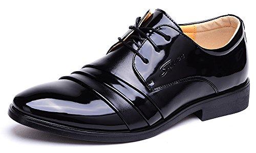 Odema Homme Chaussures d Affaires de Derby a Lacets Noir