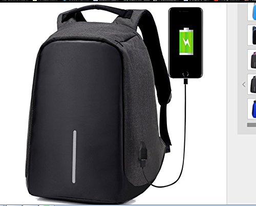 Jycra antifurto zaino con porta USB di ricarica intelligente impermeabile borse alla moda anti furto zaino multiuso per uomo donna