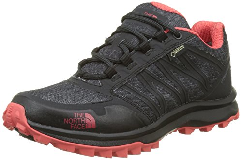 The North Face Damen Litewave Fastpack Gore-Tex Trekking-& Wanderhalbschuhe, Grau (Phantom Grey/Cayenne Red), 41 EU