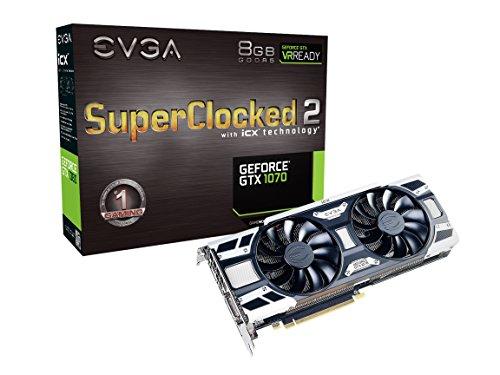EVGA 08G-P4-6573-KR Scheda Grafica da 8 GB GDDR5, 1920 Core, 1594MHz GPU, 1784MHz, Nero