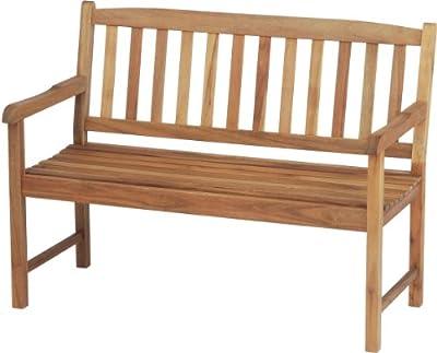 Stern 426726 Bank 2-Sitzer Forest, Akazie massiv, geölt, Sitzbreite, 112 cm