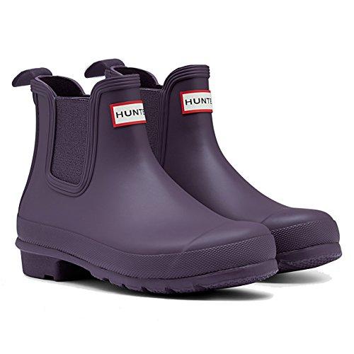 Damen Hunter Original Chelsea Schnee Regen Wasserdicht Knöchel Stiefel EU 36-43 Lila Bengel