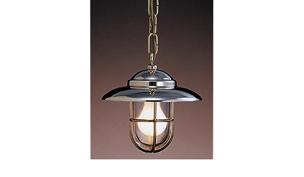 Plafoniere Ottone Stile Nautico : Art b lt lampada a sospensione in stile marino ottone