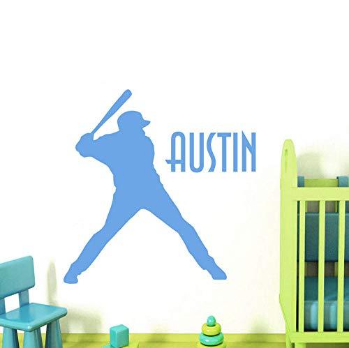 Wandaufkleber Direktverkauf Personalisierte Name Wandtattoos Baseball Sport Aufkleber Boy Room Nursery Aufkleber Für Kinderzimmer Kunst Decor58x69 cm