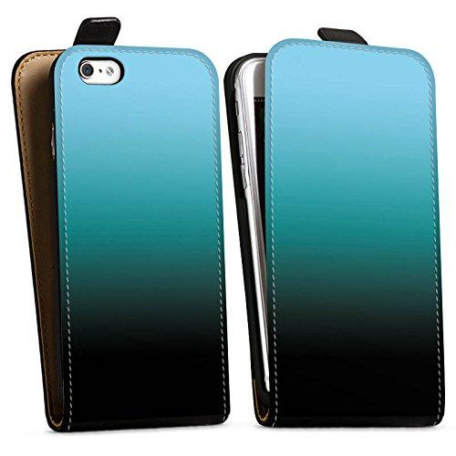 Apple iPhone X Silikon Hülle Case Schutzhülle Blau Schwarz Farbverlauf Downflip Tasche schwarz