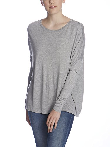 Bench Damen Langarmshirt SYNONYMS, Gr. Large, Grau (Mid Grey Marl GY001X)