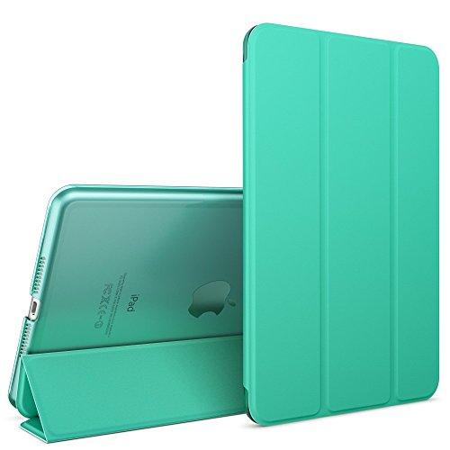 Apple iPad Mini 4 Hülle Smart-Case von NALIA, Ultra-Slim Cover Dünne Tablet Schutzhülle, Kunst-Leder Hardcase Multi-Ständer Tasche, Display-Schutz & Backcover Flip-Case Klapphülle Sleeve - Türkis