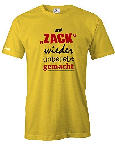 UND ZACK WIEDER UNBELIEBT GEMACHT - HERREN - T-SHIRT in Gelb by Jayess Gr. XL (T-shirt Gelbe Wieder)