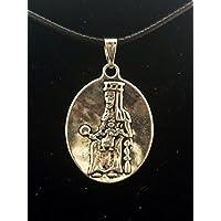 Colgante Medalla en Zamak metalizado y Acero, Moreneta