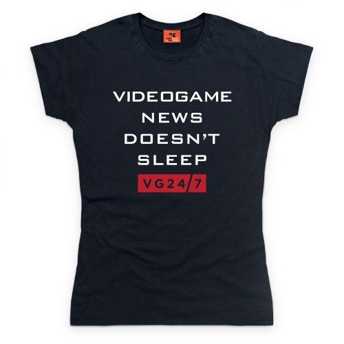 VG247 Sleep T-Shirt, Damen Schwarz
