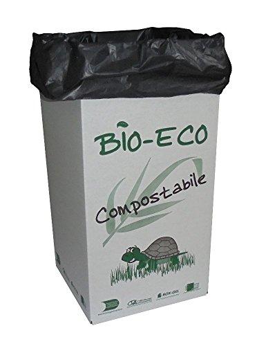 Unidades 5caja puerta basura + PZ 20bolsas para basura cartón cm 35x 35Alto Cm 70para basura y reciclaje basura