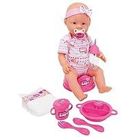 Simba 105039005 - New Born Baby, Funktions-Baby-Puppe (trinkt/näßt), inklusive Zubehör, 43 cm