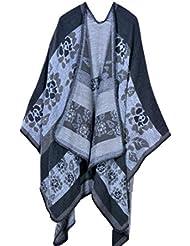 Estilo de moda Nepal las mujeres espesados manta bufanda abrigo Poncho chal cabo acogedor imitación Cachemira grandes regalos para mujer de gran tamaño 150 * 130cm , c