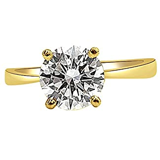 Surat Diamond 18k (750) Yellow Gold and Diamond Solitaire Engagement Ring