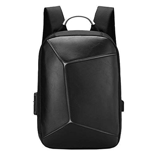 Nosterappou Zaino business elegante per studenti, uomini e donne, tridimensionale, portatile da lavoro, zaino da viaggio portatile, chiusura con cintura di sicurezza, porta di ricarica USB, borsa da 1