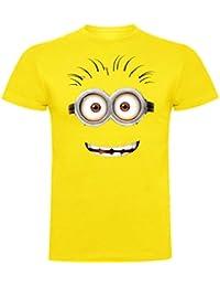 The Fan Tee Camiseta de Minions Banana Gru Banana Men In Black Hombre