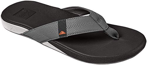 Reef Cushion Bounce Phantom, Chanclas para Hombre, Gris Grey/Orange Gor, 44 EU