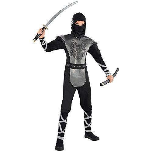 M Jungen Howling Wolf Ninja Kostüm für orientalische Kostüm Outfit