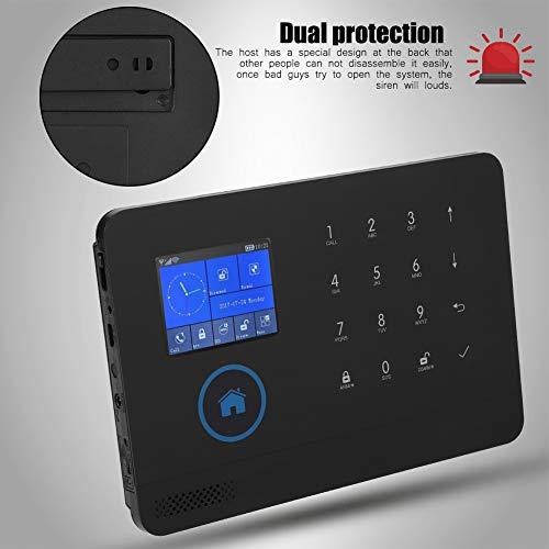 Kit di sistema di sicurezza domestica wireless WIFI, 3G + GSM + GPRS + WIFi Sistema di allarme video triplo gioco intelligente, supporto telecomando(Spina UE)