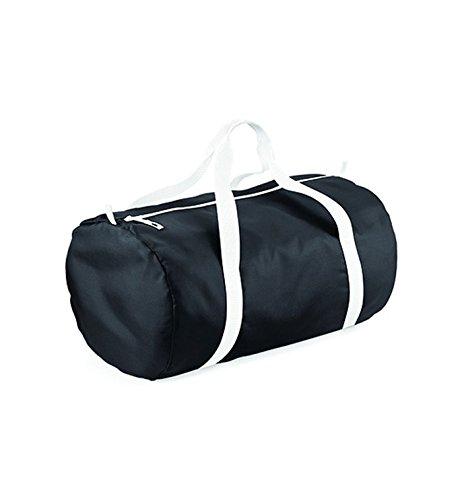 BagBase Packaway barrel bag Black/White