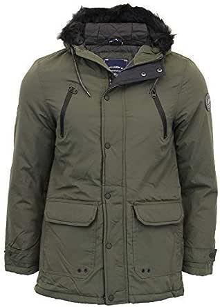 Tokyo Laundry Mens Parka Jacket Coat Hoodie Padded LENART Warm Winter Lined New