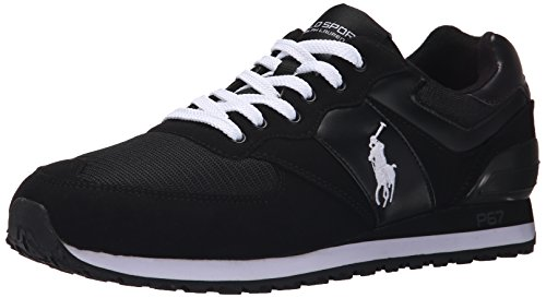 Polo Ralph Lauren Slaton poney Fashion Sneaker Black/White