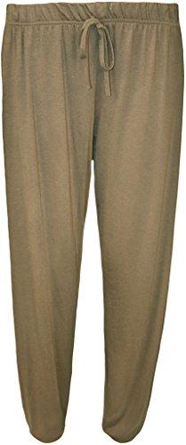 WearAll - Grande taille pantalon de harem - Pantalons - Femmes - Tailles 42 à 58 Moka