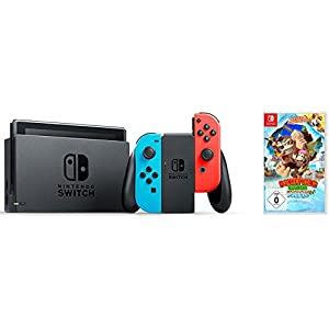 Nintendo Switch Konsole Neon-Rot/Neon-Blau + Donkey Kong Tropical Freeze