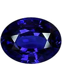 S Kumar Gems & Jewels 6.25 Ratti Certified Natural Blue Sapphire/Neelam/Shani Astrological Loose Gemstone