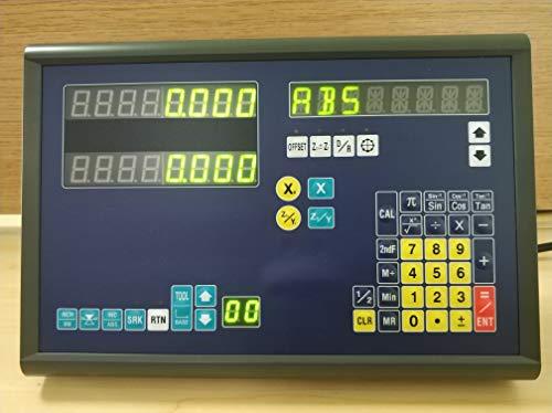 BiGa -2 Achsen-Digitalanzeige DRO TOP20-2L mit 2 linearen Skalen (1000 mm / 400 mm) für Drehbank