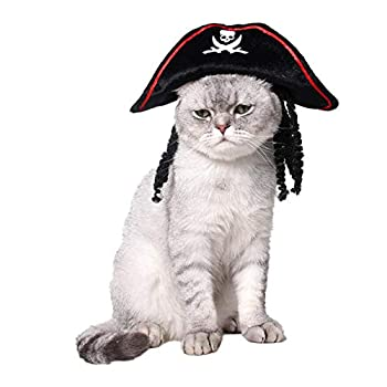 Animal De Compagnie Chat Chiot Effrayant Halloween Chapeau Pirate Mode