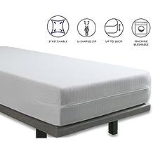 Tural – Funda de colchón extra elástica y resistente. Cierre con cremallera. Talla 135x190/200cm