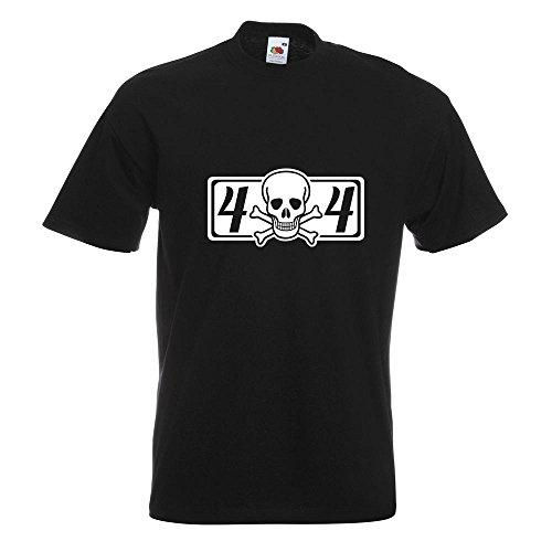 KIWISTAR - 4 x 4 Allrad T-Shirt in 15 verschiedenen Farben - Herren Funshirt bedruckt Design Sprüche Spruch Motive Oberteil Baumwolle Print Größe S M L XL XXL Schwarz