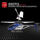 Footprintse Syma S107G Gyro Metall Infrarot 3CH RC Drone Mini Hubschrauber Spielzeug Geschenk RTF-Farbe: Blau