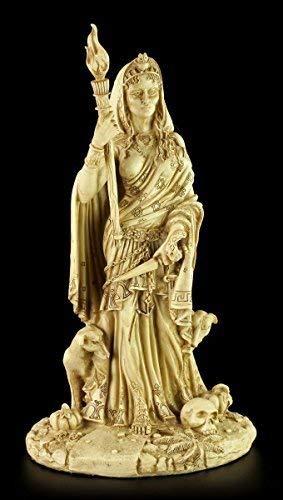 HÉCATE Figura - divinidad der Wicca Beige - Magia Figura de altar