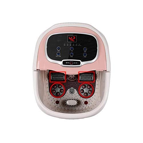Jet Foot Spa (KOSHSH 3 in 1 Fußbad/Badmassagegerät mit Heat Bubbles Jet 2 Massagerollen Pediküre mit Salzen und Ölen für müde Füße)