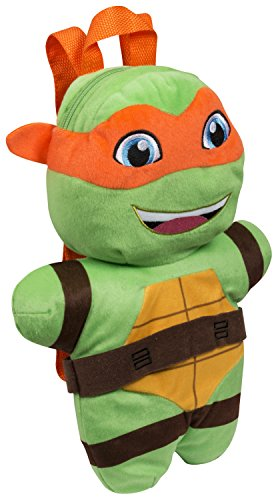 Sambro tmt-8258-3 Teenage Mutant Turtles Michelangelo Plüsch Rucksack (Turtle Rucksack Ninja)