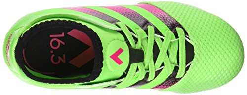 adidas Ace 16.3 Primemesh Fg/Ag J, Chaussures de Football Mixte Bébé, Vert, Talla Unica Vert / Rose / Noir (Versol / Rosimp / Negbas)