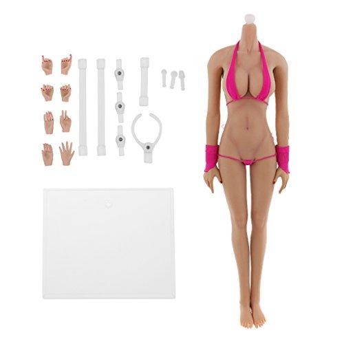 1/6 Nahtlose Große Brust Körper Figur Puppe Weibliche Gummi Tan Hautschicht Spielzeug