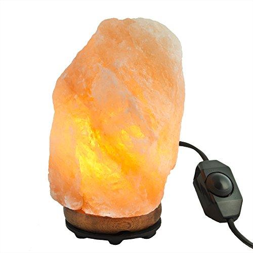 Gadgy ® Himalaya Salzlampe Dimmbar Naturlich | Salt Lamp 2-3 kg mit Holz Basis | Therapeutisch Rosa Stimmungs Nacht Licht Salzleuchte