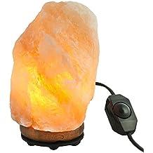 Gadgy ® Lampara de Sal del Himalaya Regulable Natural Cristal | 2-3 kg con Base de Madera | Terapeutico Ambiente Rosa Luz de Noche