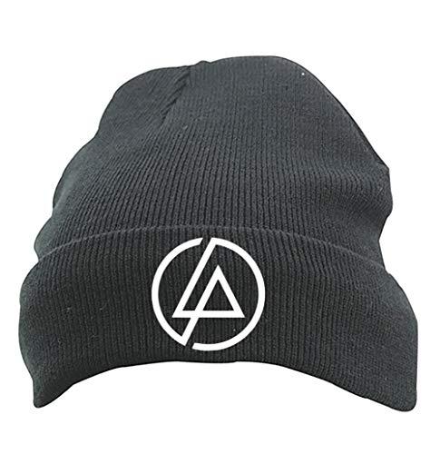 TRVPPY Herren Strickmütze Mütze Beanie mit Thinsulate, Modell LINKIN PARK, Schwarz